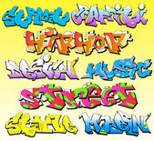 Graffiti Font Vector Art — Stock Vector