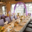 The served wedding table - Foto Stock