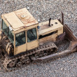 Bulldozer at building construction site — Stock Photo #11166609