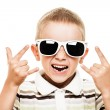 Smiling child gesturing — Stock Photo