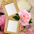 Stock Photo: Grunge frames with peony and paper