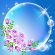 Bubbles with flowers — Stockvektor #11082734