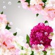 Stock Photo: Peony and bubbles