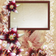 Photo frame with lily — Stock Photo