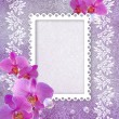 Orchid and openwork frame — Stock fotografie