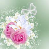Розы и лилии — Стоковое фото
