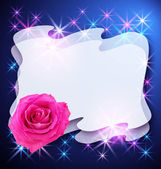 Glowing background with rose — Stock Photo