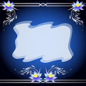 Liljor, silver ornament och transparent tyg — Stockvektor