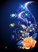 Rose ve yıldız — Stok Vektör