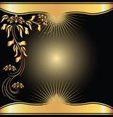 Pozadí s zlatý ornament — Stock vektor