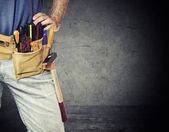 Detail of handyman — Stock Photo