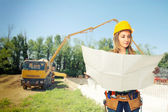 Carpenter on duty — Stock Photo