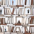 On books wall — Foto de Stock