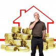 Buy house — Stockfoto