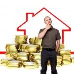Sprzedam dom — Zdjęcie stockowe