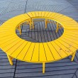 Yellow Circular Bench — Stock Photo