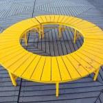 Yellow Circular Bench — Stock Photo #10758007