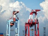 Two Container Gantry Cranes — Stock Photo