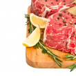 Royalty-Free Stock Photo: Raw meat isolated