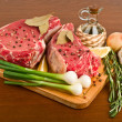 Stock Photo: Raw meat with rosemary
