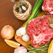 Raw meat with vegetables — Stock Photo #11390826