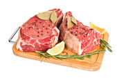 Raw meat isolated — Stock Photo
