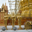Stock Photo: Gold buddhstatues