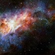 Starry deep outer space nebual and galaxy — Stock Photo