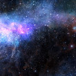 Starry deep outer space nebual and galaxy — Stock Photo #11858800