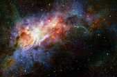 Starry deep outer space nebual and galaxy — ストック写真