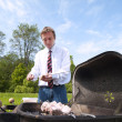 Man and barbeque. — Stock Photo #11045582