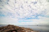 Entrance of Daugava river in Baltic sea, Latvia. — Stock Photo