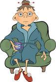 La abuela. dibujos animados — Vector de stock