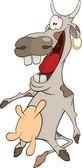 Cartone animato mucca allegra — Vettoriale Stock