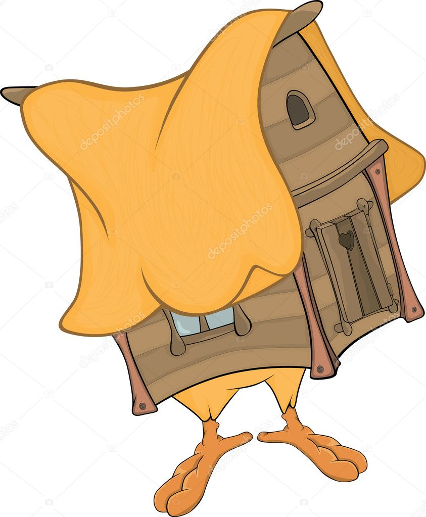 Hut On Chicken Legs Cartoon  Stock Illustration