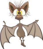 Little cheerful bat.Cartoon — Stock Vector