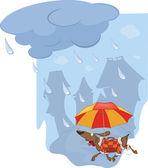 Rychlost a deštník — Stock vektor