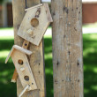 Handmade bird house - Stock Photo