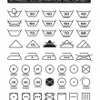 Laundry Symbols Collection - Stock Vector