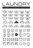 Laundry Symbols Collection — Stock Vector