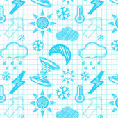 Weather hand drawn seamless pattern. — Stock Vector