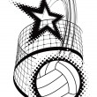 Royalty-Free Stock Vector Image: Volleyball sport design element