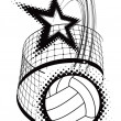 Volleyball sport design element - Stock Vector