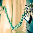 Bow at the curtain — Stock Photo #12374853
