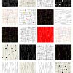 conjunto de patrones abstractos sin fisuras para su diseño — Vector de stock