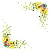Marco floral para su diseño — Vector de stock