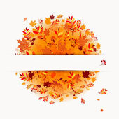 Autumn banner with place for your text — Vector de stock