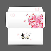 Design of wedding envelope — Stock Vector