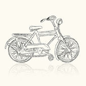Sketch of old bicycle for your design — Stock Vector