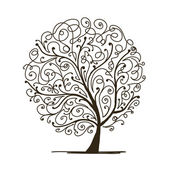 Art tree beautiful for your design — Vetorial Stock